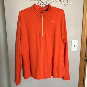 Nike Quarter Zip Longsleeve in Bright Orange